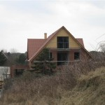 Blick auf das Haus an den Dünen