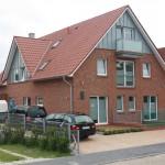 Blick auf das fertige Haus