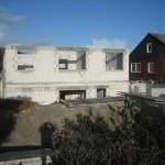 Blick von Süden auf das Apartmenthaus